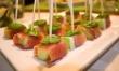 Kąski z melona i szynki parmeńskiej