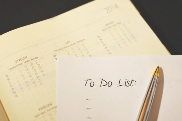 Zrób listę kilka dni wcześniej