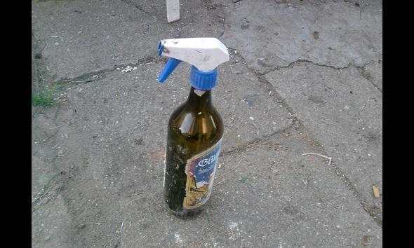 Dla tych którchy już nie mają siły podnieść butelkę wersja ze spryskiwaczem