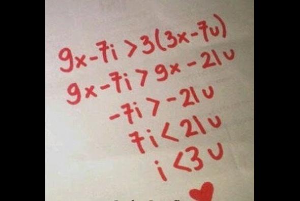 Jak matematyk wyznaje miłość ?