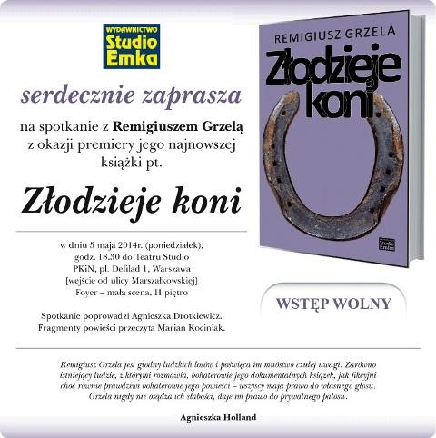"""Promocja książki """"Złodzieje koni"""" Remigiusza Grzeli"""