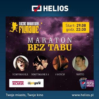 """Maraton """"Bez Tabu"""" w kinie Helios Magnolia Park"""
