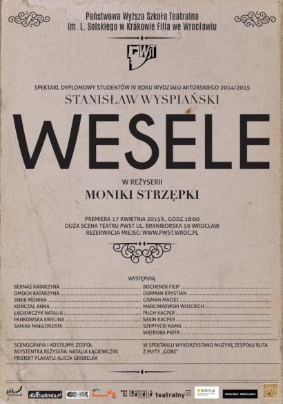 Wesele - premiera Teatru PWST Wrocław
