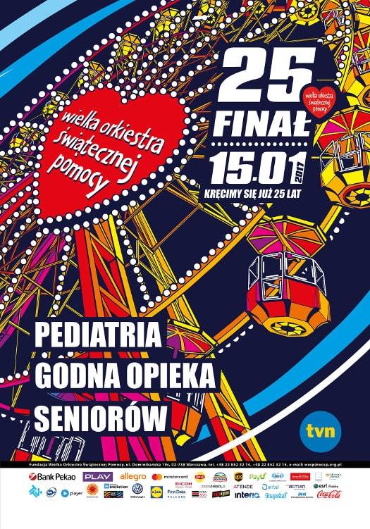 25. Finał WOŚP 2017 w Łodzi - program