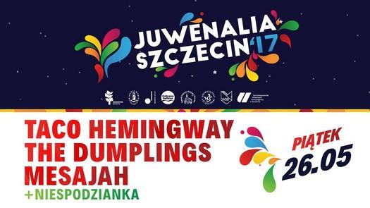 Juwenalia Szczecin 2017: Taco Hemingway / The Dumplings / Mesajah