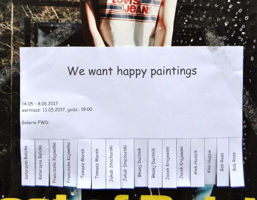 We want happy paintings