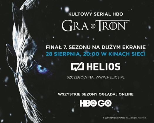 Finałowy odcinek 7. sezonu Gry o Tron w kinach Helios