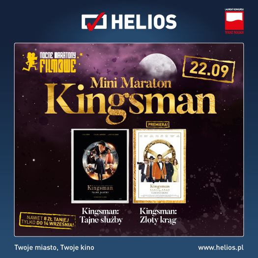 Mini Maraton Kingsmana w kinach Helios