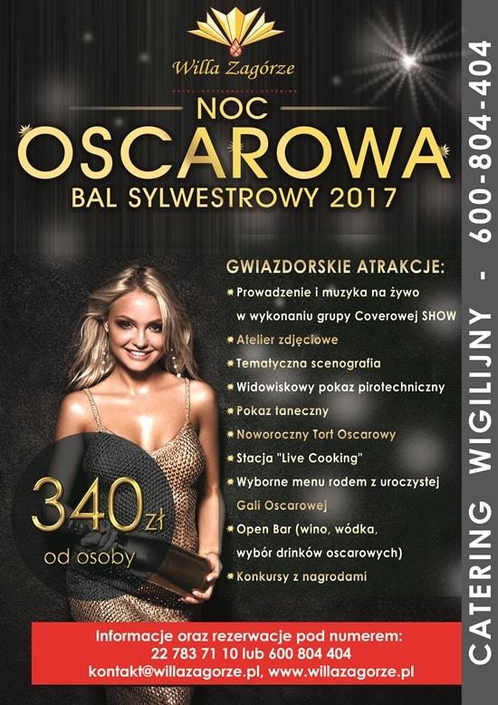 BAL SYLWESTROWY 2017 OKOLICE WARSZAWY - NOC OSCAROWA