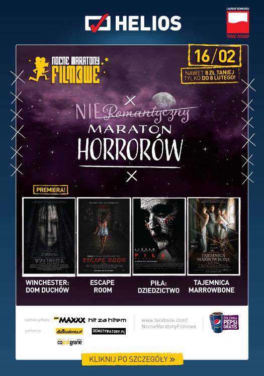Nieromantyczny Maraton Horrorów w kinach Helios