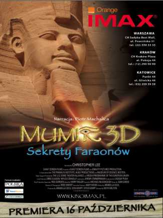 Mumie 3D. Sekrety Faraonów - premiera