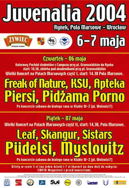 Juwenalia - koncerty KSU, Piersi, Pidżama Porno