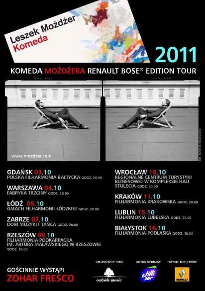 Komeda Możdżera Renault Bose Edition Tour 2011