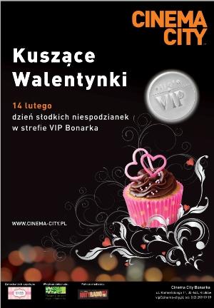 Kuszące Walentynki w Cinema City VIP Bonarka!