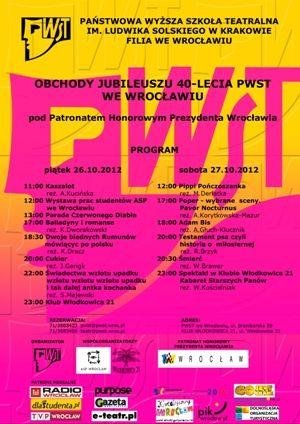 "Jubileusz 40-lecia PWST - ""Noc Dyplomów"""
