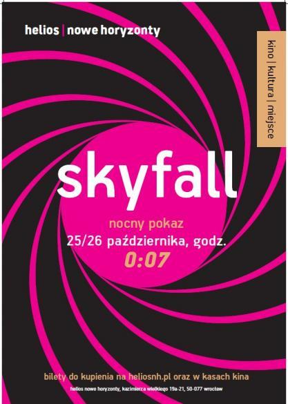 """Nocny pokaz """"Skyfall"""" w Heliosie NH"""