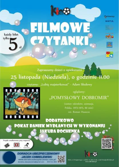 Filmowe czytanki w kinie WDK dla najmlodszych
