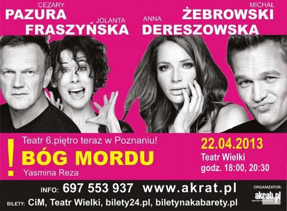 """Dereszowska, Pazura i Żebrowski - """"Bóg mordu"""""""