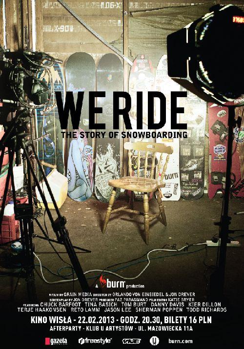 "Premiera ""We Ride"" - historia snowboard'u"