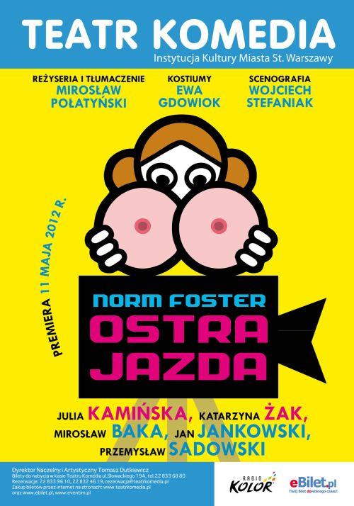 """Teatr Komedia - spektakl """"Ostra jazda"""""""