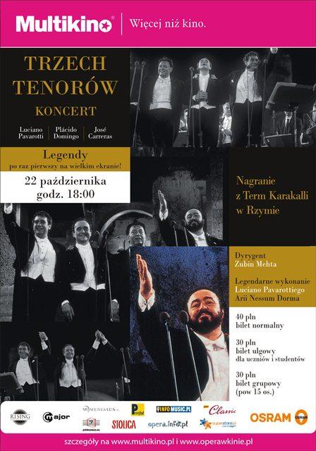 Koncert Trzech Tenorów z rzymskich Term Karakalli