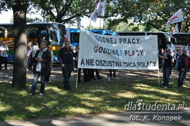 Manifestacja Związkowców Solidarności