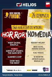 Nocny maraton w kinie Helios - Komedie lub Horrory