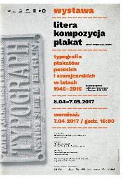 Litera / Kompozycja / Plakat