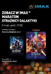 """Kosmiczne maratony """"Strażników Galaktyki vol. 1 i vol. 2""""  w Cinema City i IMAX"""