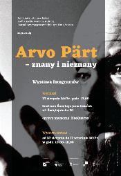 ARVO PÄRT - znany i nieznany
