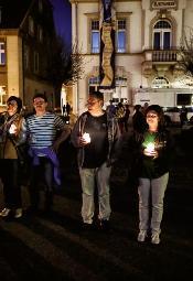 Ostritz: Łańcuch światła z okazji Święta Pokoju