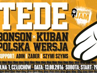 TEDE, Polska Wersja, Bonson i Kuban w Cz�uchowie? Ju� 13 sierpnia CZW RAP NIGHT 2016! - czw rap night 2016, tede koncert,