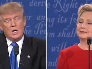 Burzliwa debata w USA! Obra�liwe teksty i zapytania o prywatne �ycie [WIDEO] - donald trump hillary clinton, debata usa, debata trump gilary