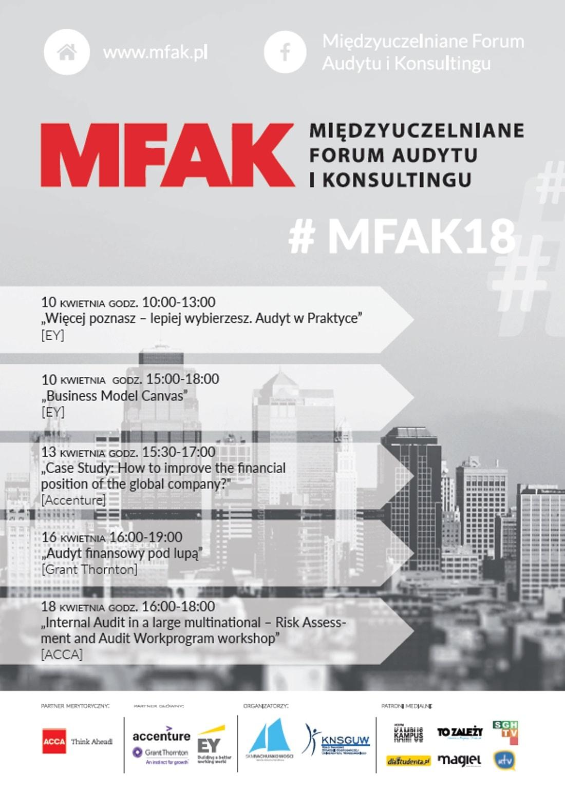 MFAK odbędzie się w dniach 10-18 kwietnia 2018 roku.