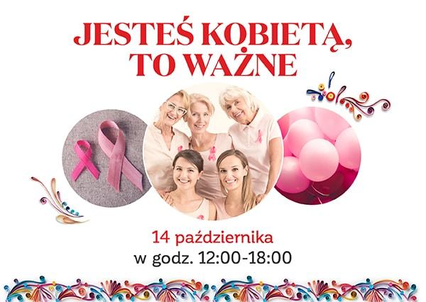 Październik miesiącem walki z rakiem piersi - przyjdź na darmowe badania i konsultacje!