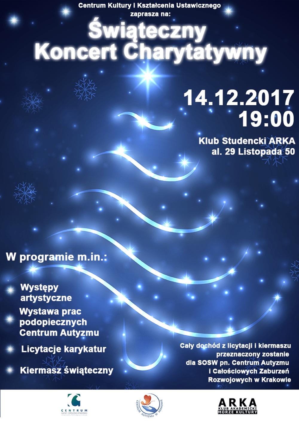 Koncert odbędzie się 14 grudnia 2017 roku o godz. 19:00.