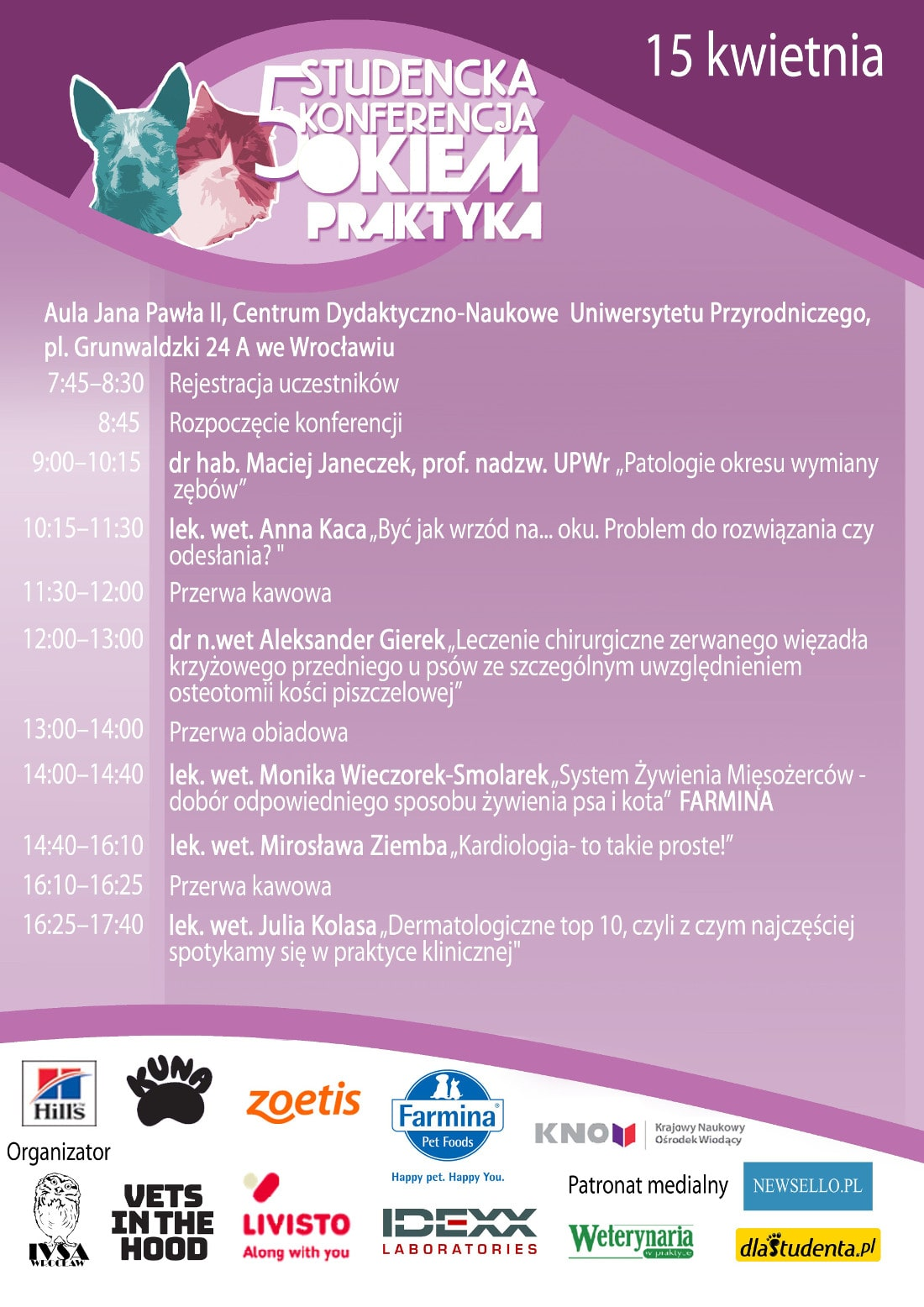 Studencka konferencja odbędzie się 15 kwietnia 2018 roku.