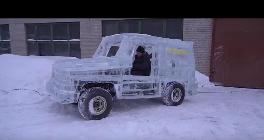auto z lodu