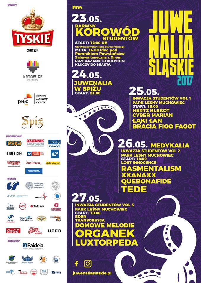 Juwenalia Śląskie 2017 plakat