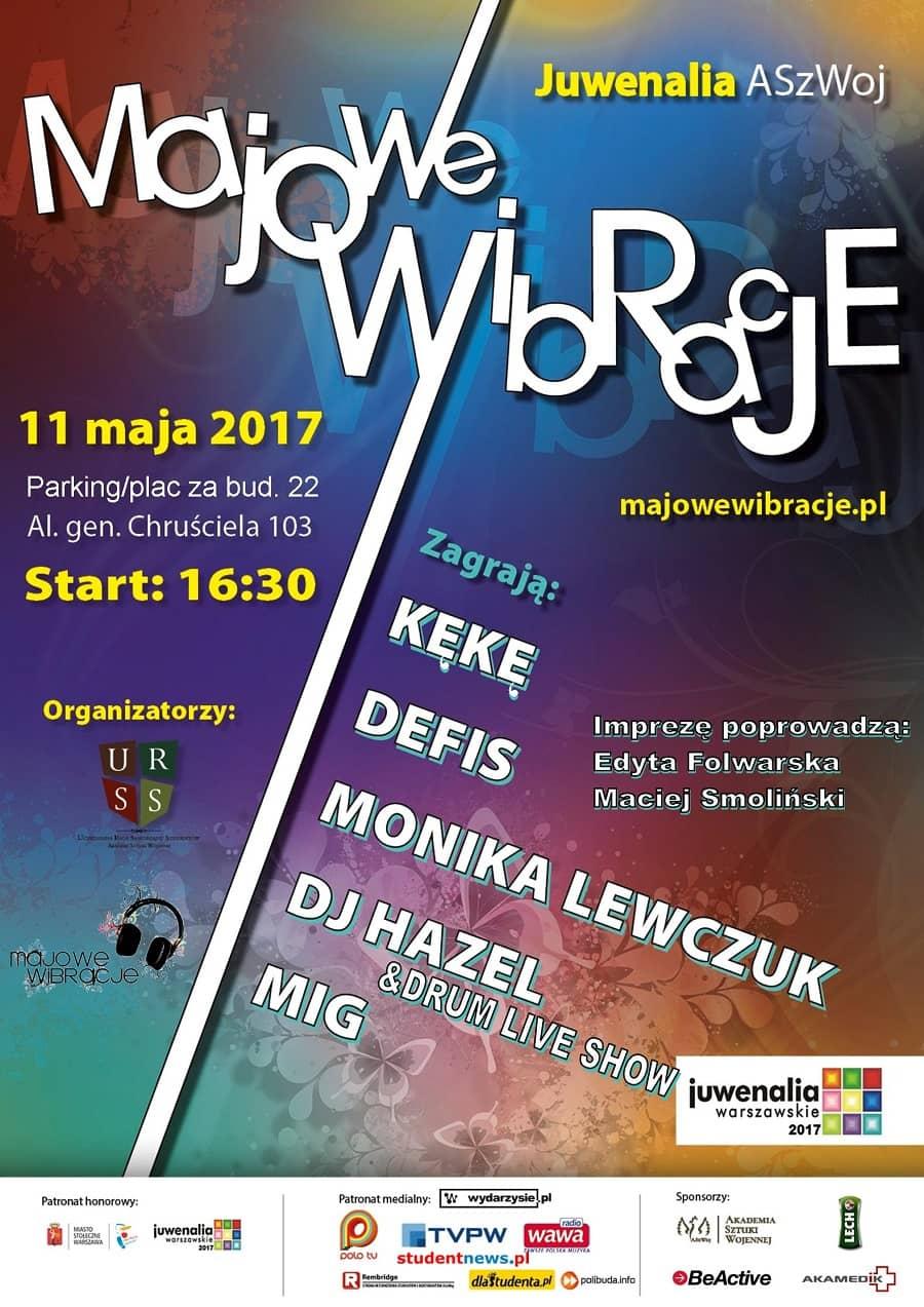 Majowe Wibracje 2017 Plakat koncert