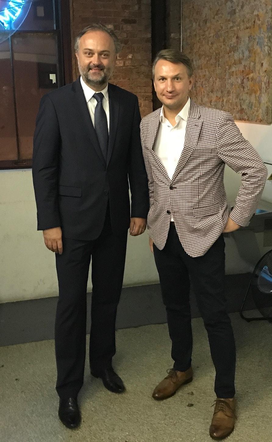 Konsul Generalny RP w NYC i reżyser Michał Kondrat