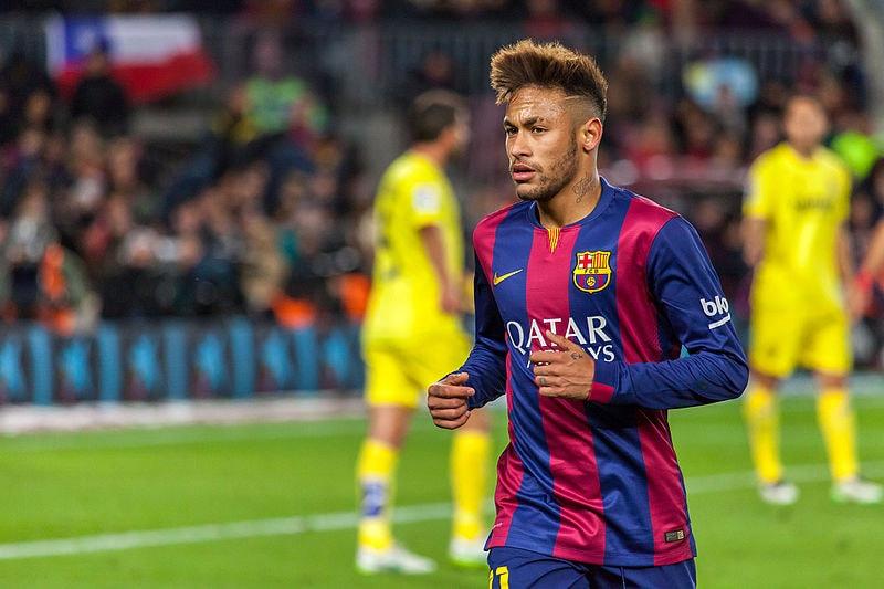 Neymar w koszulce barcelony