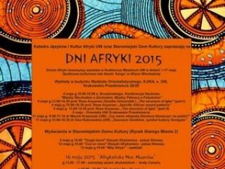 Dni Afryki 2015 [PROGRAM] - dni afryki 2015 uw warszawa program harmonogram