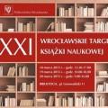 XXI Wrocławskie Targi Książki Naukowej [PROGRAM] - wrocławskie targi książki naukowej 2015 wrocław program harmonogram wtkn