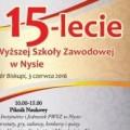 15-lecie PWSZ w Nysie - zobacz plakat! [PROGRAM] - 15 lecie państwowej wyższej szkoły zawodowej w nysie, pwsz, nysa