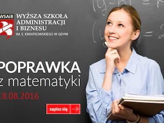 Zdaj poprawkę z matematyki na 100 procent! - kursy do poprawki z matematyki gdynia, wyższa szkoła administracyji i biznesu, gdynia