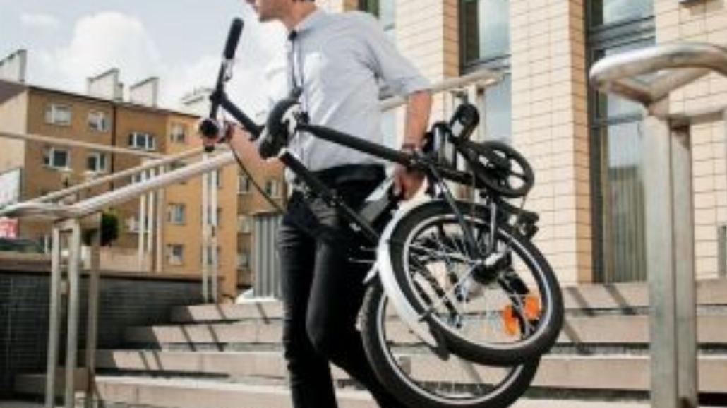 Składany rower do poruszanie się po mieście