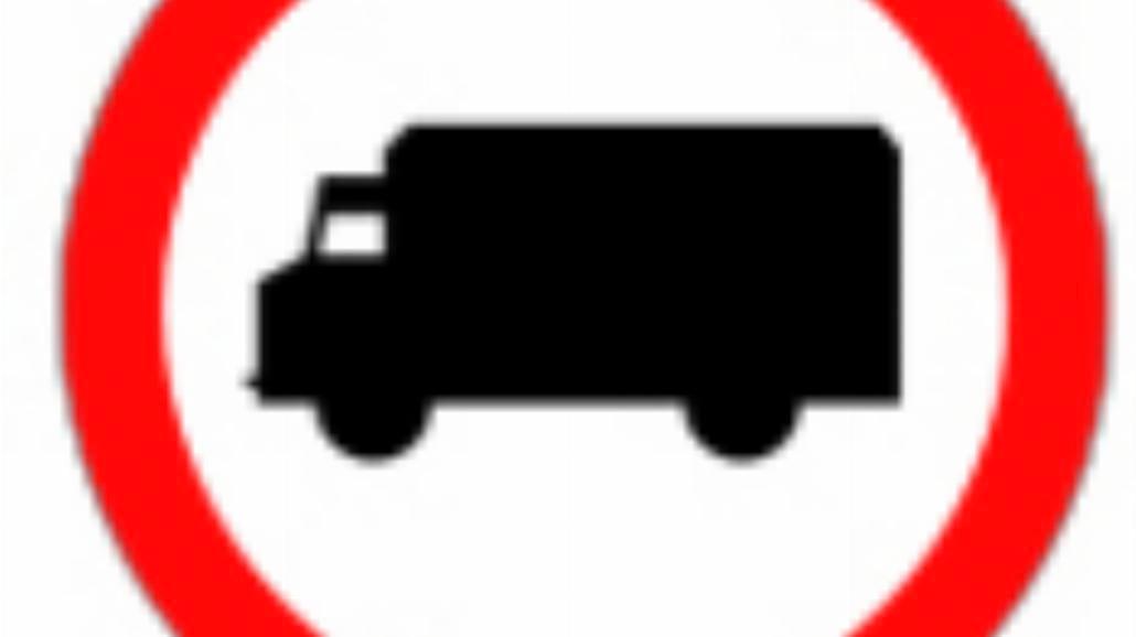 """B-5 """"zakaz wjazdu samochodów ciężarowych"""""""