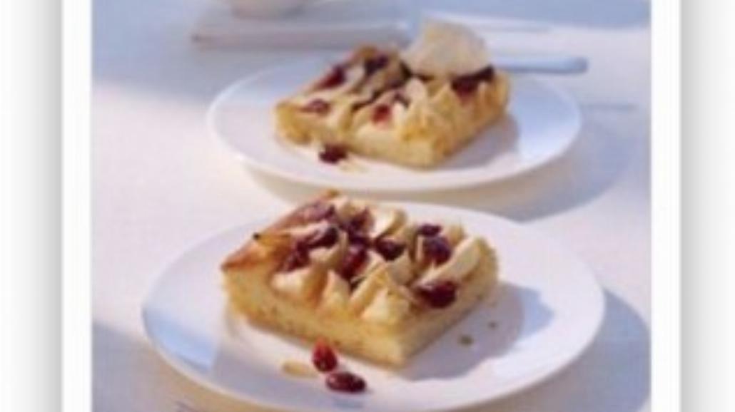 Ciasto maślane z jabłkami i żurawiną