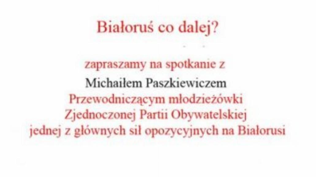 Białoruś - co dalej?